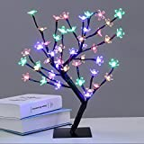 24 LED Tree Home Decoration Lighting | Size 14 x 5' Inch | Festival Lamp Creative Gift Diwali Christmas Wedding Party Event - Multi Color