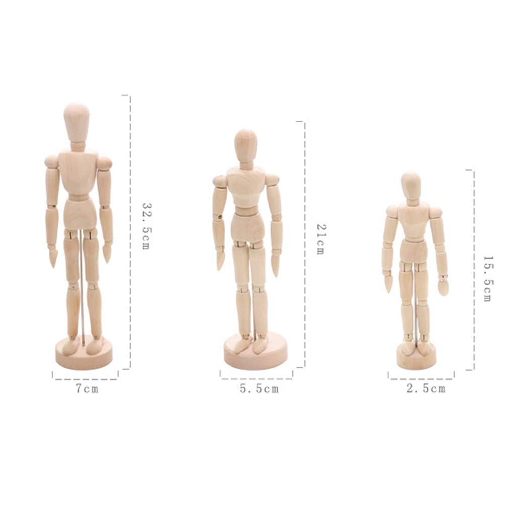 20 cm Mannequin Zeichenpuppe mobil f/ür Kinder Lunji Herren K/ünstler Anf/änger