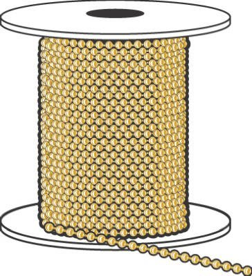 Ball Chain Suppliers (HY-KO PROD 6 Yellow Brass Ball Chain , 100' (KBC198BR))