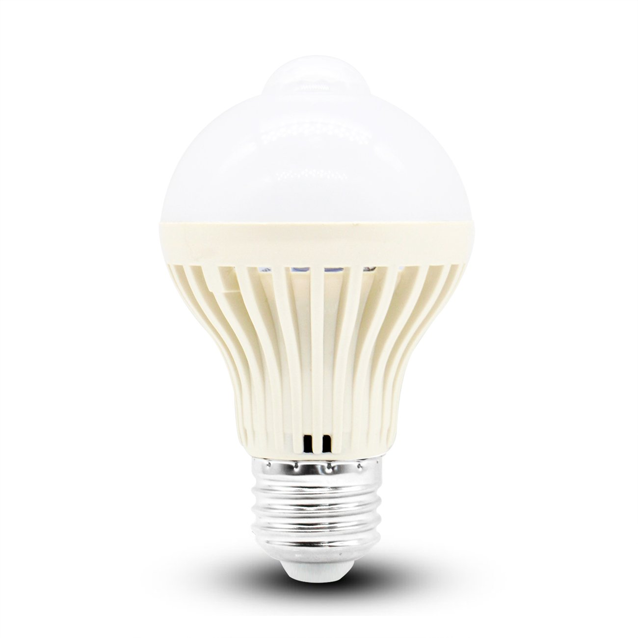 led電球 室内人感センサーライト 室内 E26口金 5W 明暗 人感センサー付 ト 昼白色 自動点灯/消灯 赤外線ランプ
