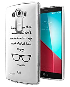 c0143 - I'm so smart That Sometime i don't undertant a single wo Design LG G4 Fashion Trend Hard Plastic Case Protective Full Case Front, Back & All Edges Protection Case Cover