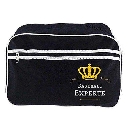 Retrotasche Baseball Experte schwarz