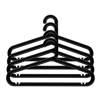 Ikea BAGIS - Ropa-Percha, 4 Paquete Negro: Amazon.es ...