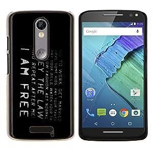 Caucho caso de Shell duro de la cubierta de accesorios de protección BY RAYDREAMMM - Motorola MOTO X3 3rd - Soy libre
