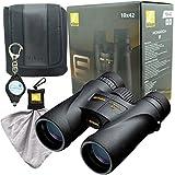 Nikon 7577 MONARCH 5 10x42 Waterproof/Fogproof Binoculars Bundle with Nikon Microfiber Cleaning Cloth