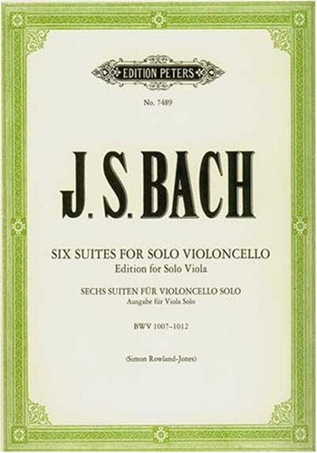 Read Online Six Suites for Violincello: Edition for Solo Viola (BWV 1007-1012) ebook