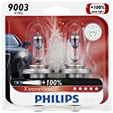 Philips 9003 X-tremeVision Upgraded Headlight Bulb, 2 Pack