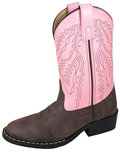 Smoky Mountain Childrens Girls Monterey Boots Brown/Pink, 2.5M