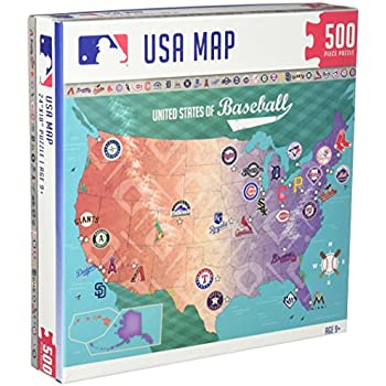 masterpieces mlb map jigsaw puzzle 500 piece