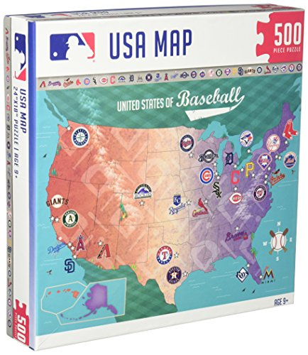 MasterPieces MLB Map Jigsaw Puzzle, 500-Piece