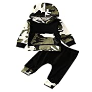 AR-LLOYD Infant Baby Boys Camouflage Hoodie Tops +Long Pants Outfits Set Clothes 0-3Y (3-6m, Camouflage)