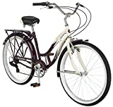 Schwinn-Womens-Sanctuary-7-Speed-Cruiser-Bicycle-26-Inch-Wheels-CreamPurple-16-Inch