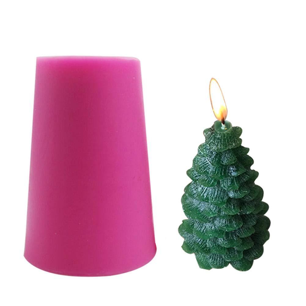 Lembeauty - Molde de Silicona 3D con Forma de árbol de Navidad para decoración de Coches con Forma de aromaterapia, para Hacer Velas, Hacer jabón y Hornear ...