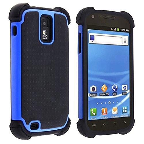 Hybrid Armor Case for Samsung Galaxy S II S2 Hercules aka T-Mobile T989 (Blue)