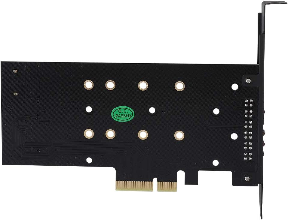 Zerone PPCI-E 4X to NGFF SSD PCI Express Expansion Card Adapter Card B-key+M-key M.2 NGFF+NVME Dual Interface with LED Lamp