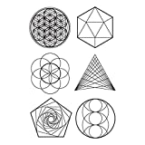 Tattly Temporary Tattoos Sacred Geometry Sheets, Scented, 0.43 Ounce