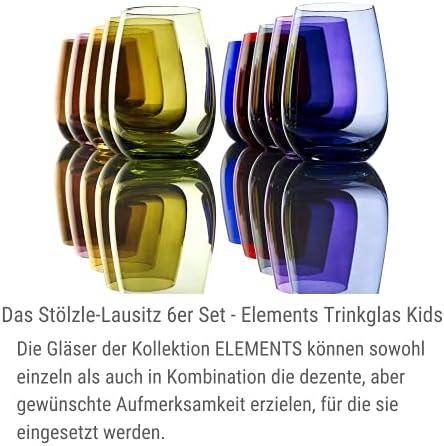 Vasos Elements de Stölzle Lausitz, 465 ml, Àmbar, Juego de 6 Unidades, compatibles con lavavajillas, Vasos de Colores
