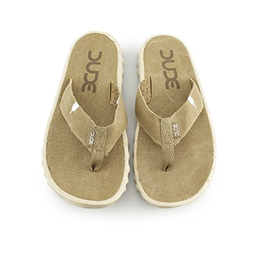 Hey Dude Shoes Sava Chestnut Canvas Flip Flop Chestnut BcNGucjgwN