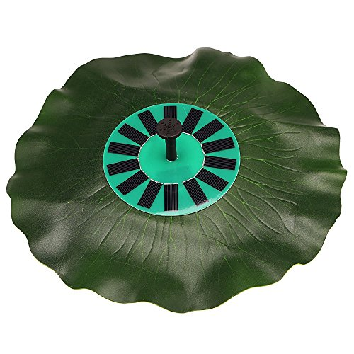 Anself Solar-power Lotus Leaf Fountain Pond Brushless Water Pump with Monocrystalline Solar Panel by Anself
