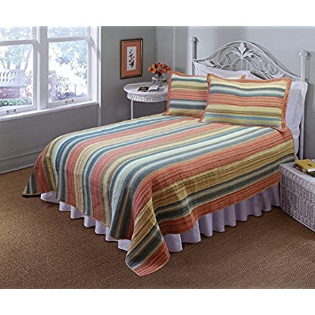 Vintage Chic Full Queen Quilt With 2 Shams