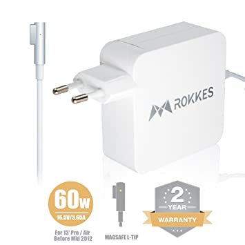 MacBook Air Cargador Adaptador - rokkes 60 W MagSafe L de ...