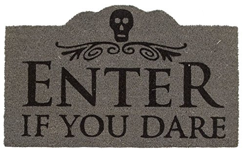 Entryways Enter if You Dare Non- Slip Coconut Fiber Doormat 17
