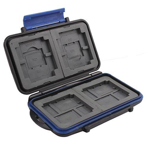 eDealMax ABS Resistenza Acqua 12 Slot Caso scheda di Memoria Holder Nero per SD CF TF MSPD Cards