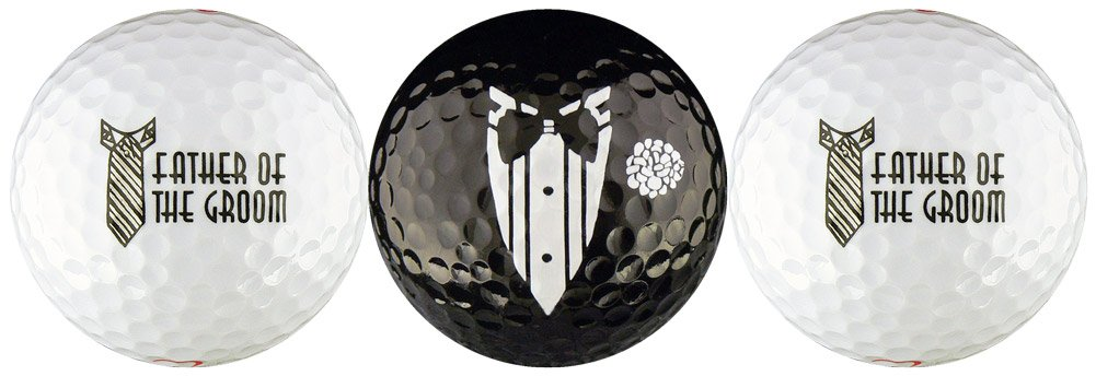 Father of the Groom Wedding Variety Golf Ball Gift Set