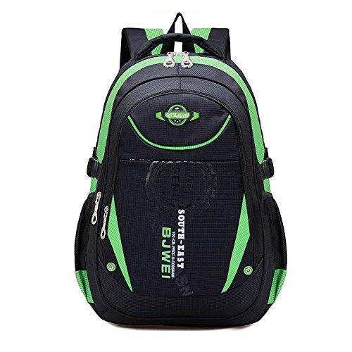 (MAYZERO Kid's Outdoor Backpack School Bags Waterproof Travel Camping Bags (Green))