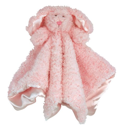 Stephan Baby Plush Cuddle Bud Security Blankie Available in 6 Styles, Pink Bunnie ()