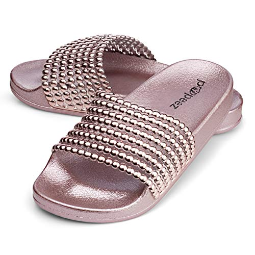 Pupeez Flat Slide Sandals for Kids with A Pearl Detail for sale  Delivered anywhere in USA