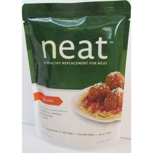 Neat Italian Mix, Vegetarian (Ground Beef Substitute) - 5.5 oz (Pack of 6) by Neat
