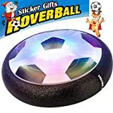 AMENON Kids Air Power Soccer Football Size 4 Boys Girls Sport Children Novelty Toys Training Football Indoor Outdoor Floating Disk Hover Ball Game,Light Up Toys (18 DIY Sticker Include)