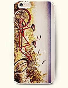 New Case Cover For SamSung Galaxy Note 4 Hard Case Cover - Red Bicycle for Three Persons