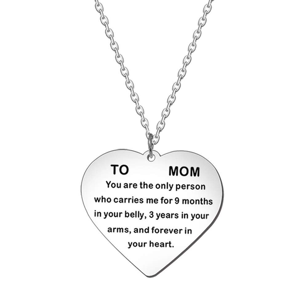 Yinpinxinmao Keychain Key Ring Super Fashonable English Letter to Mom Necklace Love Heart Pendant Chain Keyring Charm Pendant Purse Key Ring 1#