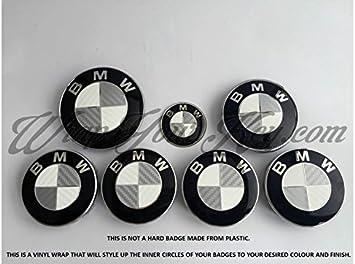 White Silver Grey Carbon Fiber Bmw Badge Emblem For All Bmw Amazon De Auto