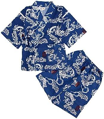 Amosfun Pijamas de Kimono japoneses 2 Piezas de Manga Corta ...