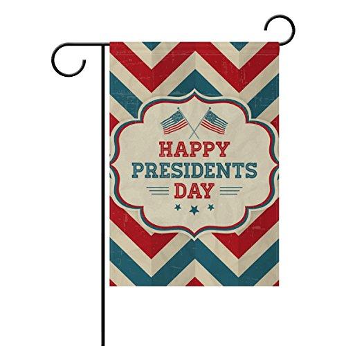 LEISISI Happy Presidents Day Retro Background Garden flag 12
