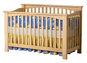 Atlantic Furniture Columbia Convertible Crib, Natural Maple (Discontinued by Manufacturer)