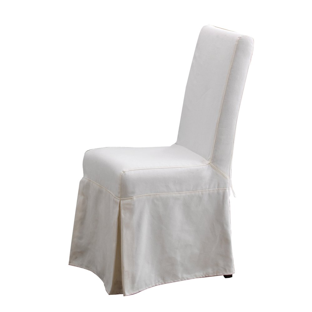 amazoncom padmau0027s plantation pacific beach dining chair slipcover sunbleached white kitchen u0026 dining