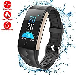 Waterproof Fitness Tracker,LOMAXFR IP67 Bluetooth Activity Bracelet Heart Rate Wristband with Pedometer Step Distance Counter Calorie Burned and Sleep Monitor Smart Watch for Men, Women and Kids