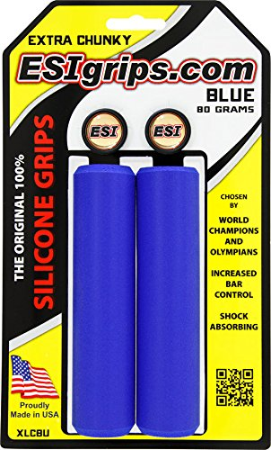 Blue New ESI 34mm Extra Chunky Silicone Grips