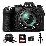 Panasonic LUMIX FZ1000 II 4K 16x Long Zoom Digital Camera plus Sandisk Extreme PRO 32GB, Sima Shotgun Mic, 12' Spider Tripod with ball head, Spare battery, 62MM UV filter, complete accessory kit
