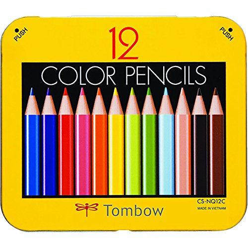 Tombow Mini Colored Pencil Set in Metal Tin, 12-Pack