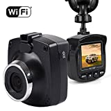 """Dash Cam with WiFi, Maxesla 1080P dash camera for cars Full HD Dashboard Car Recording Camera 170 Wide Angle 1.5"""" Screen with G-Sensor Loop Recording Motion Detection, WDR Night Vision Parking Monitor"""