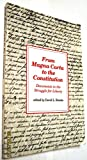From Magna Carta to the Constitution 9780930073077