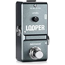 Neewer NW-332 Mini Electronic Guitar Looper Effects Pedal True Bypass Unlimited Overdubs 10 Minutes Recording