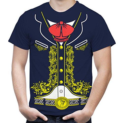 Viva Mexico Mexican Mariachi Charro Costume Youth Kids T-Shirt X-Large Navy Blue -