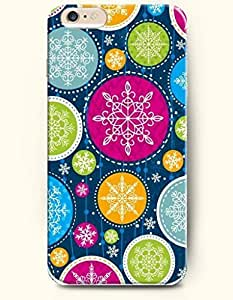 SevenArc New Apple iPhone 6 ( 4.7 Inches) Hard Case Cover - Merry Christmas - Blooming Flower and Snowflake-shaped... wangjiang maoyi
