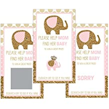 Set of 12 Scratch Off Game Cards for Baby Shower Games...